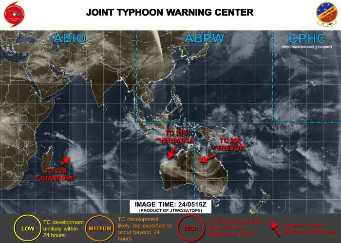 Cyclone Joaninha. Image courtesy: Joint Typhoon Warning Centre (JTWC), featured in Africa PORTS & SHIPS