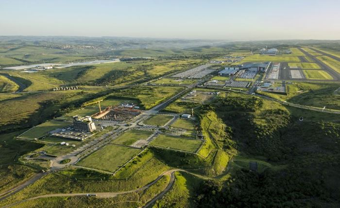 Aerial view of the Dube Trade Port precinct. Picture: DTP, featured in Africa PORTS & SHIPS