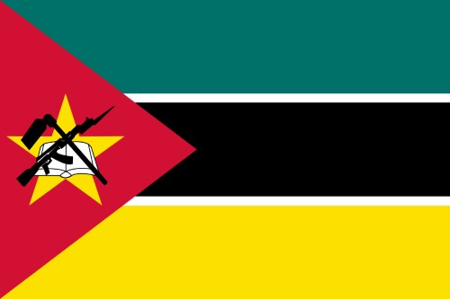 Flag of Mozambique, featured in Africa PORTS & SHIPS