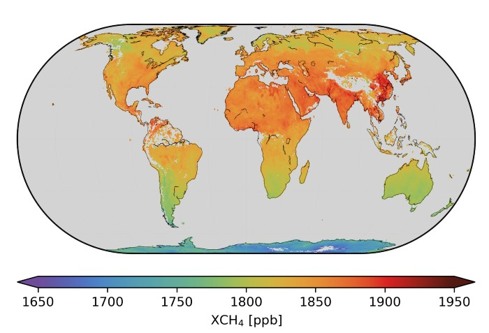 Global methane. Thanks to the mission's spatial resolution of 7 x 7 km and global coverage every 24 hours, methane emissions can be mapped on regional scales and also for larger point sources. These data are now available to the user community. Picture credit: Released 04/03/2019 5:50 pm; Copyright contains modified Copernicus data (2018–19), processed by SRON. ESA © Featured in Africa PORTS & SHIPS
