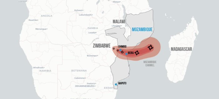 Cyclone Idai: Path of destruction, featured in Africa PORTS & SHIPS
