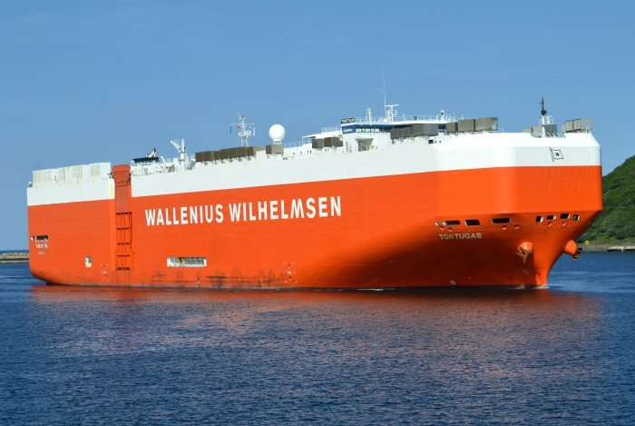 Wallenius Wilhelmsen car carrier Tortugas in Durban harbour. Picture: Trevor Jones, featured in Africa PORTS & SHIPS