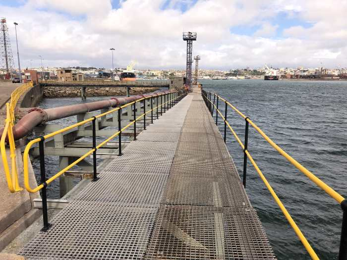 Repaired walkway at the PE tanker berth. Picture: TNPA, featuring in Africa PORTS & SHIPS maritime news