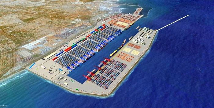 Ghana's new container terminal at Tema as it will appear, featured in Africa PORTS & SHIPS maritime news
