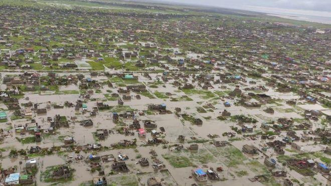 Beira aftermath of Cyclone Idai, photo BBC