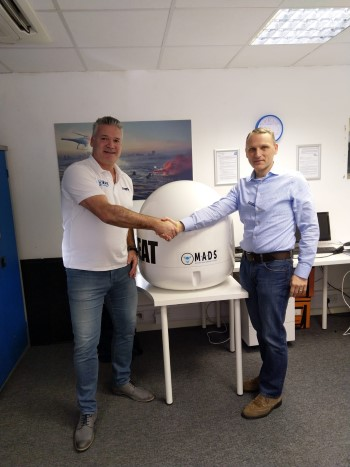 Erik van Wilsum, Head of CUAS (Countering Unmanned Aerial Systems, left) with Stuart Ovington, Head of Global Sales at MADS, featured in Africa PORTS & SHIPS