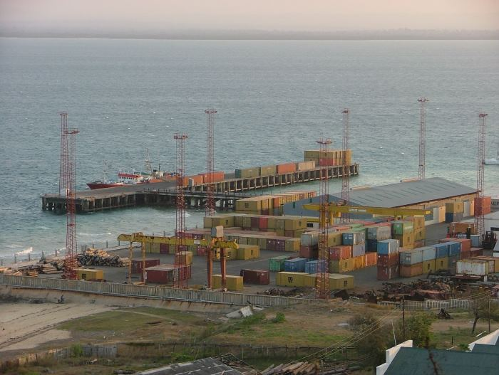 The small port of Pemba in the very large bay of the same name. Picture by Terry Hutson, as featured in Africa PORTS & SHIPS maritime news online