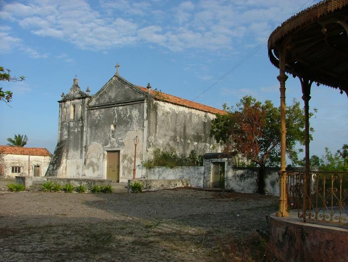 Historic old Roman Catholic church on Ibo Island. Picture by Terry Hutson, featured in report concerning Cyclone Kenneth in Africa PORTS & SHIPS maritime news online