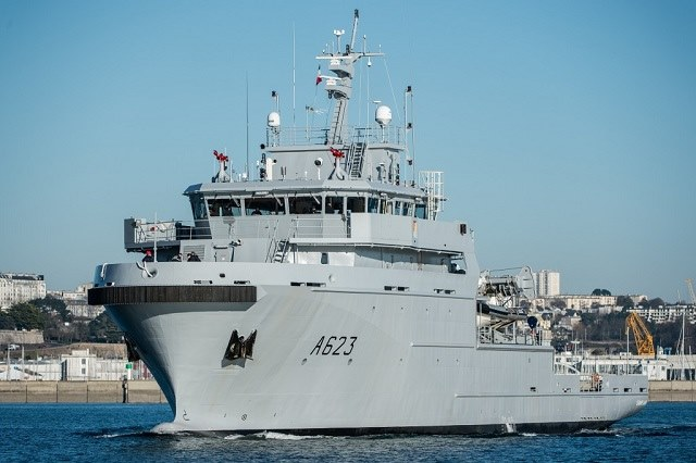 FS Champlain A623, the third ship in the class which is based at Réunion. Picture: French Navy