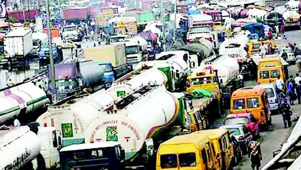 Gridlock, Lagos style, featured in Africa PORTS & SHIPS maritime news online