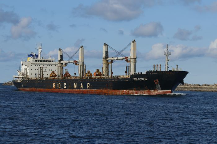 CMB Adrien in Durban, by Keith Betts, featured in Africa PORTS & SHIPS maritime news online