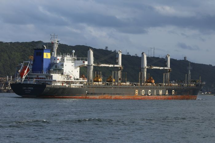 CMB Adrien arriving in Durban and featured in Africa PORTS & SHIPS maritime news online. Picture by Keith Betts