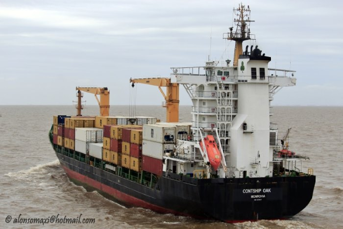 Contship Oak. Picture courtesy: ShipSpotting, featured in Africa PORTS & SHIPS maritime news