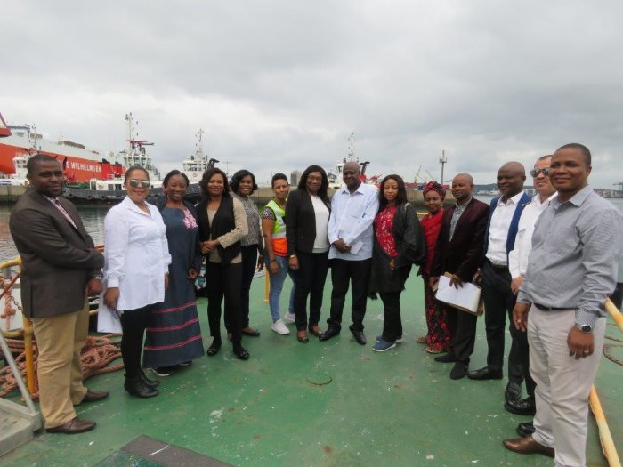Representatives of TNPA and the Nigeria Shippers Council ahead of a visit on the Durban port launch, as featured in Africa PORTS & SHIPS maritime news online