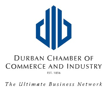 Durban Chamber of Commerc & Industry banner, displayed in article published in Africa PORTS & SHIPS maritime news