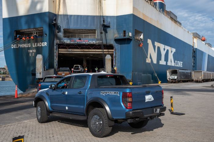 First shipment comprises 1,000 Ford Ranger and Ford Raptor models destined for markets in Europe. Picture: TNPA, featured in Africa PORTS & SHIPS maritime news