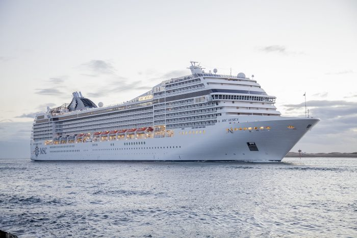MSC MUSICA arriving in her South African homeport of Durban during her maiden season in the country, as featured in a report in Africa PORTS & SHIPS maritime news online