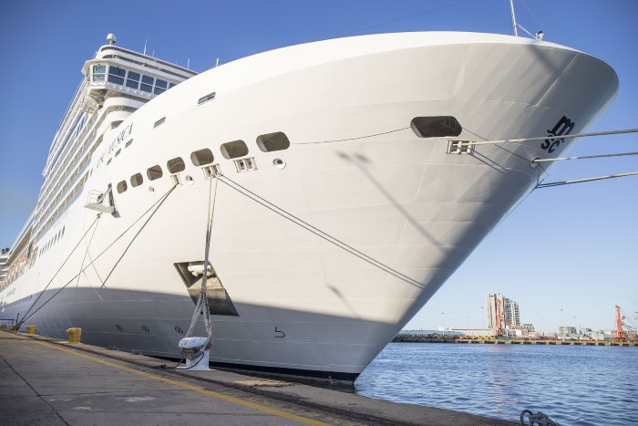 MSC Musica on her normal M berth at Durban, featured in Africa PORTS & SHIPS maritime news online