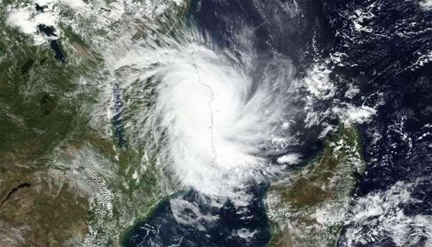 Cyclone Kenneth overland in northern Mozambique, featured in Africa PORTS & SHIPS maritime news online