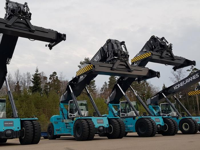 Konecranes reach stackers for MSC South Africa, featured in Africa PORTS & SHIPS maritime news online