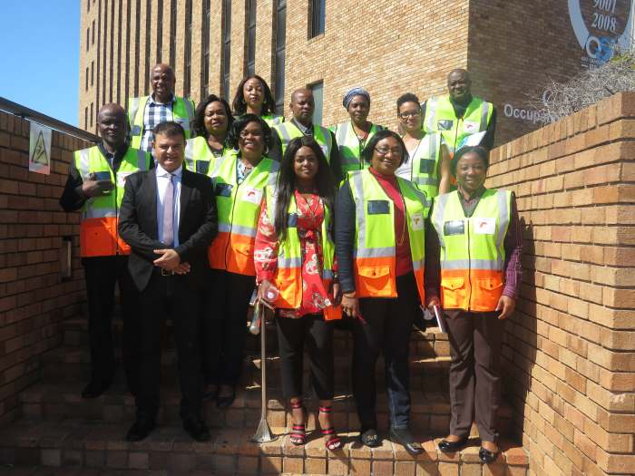 Sujit Bhagattjee (TNPA New Business Development Manager – front left) and Olwethu Mdabula (TNPA Corporate Affairs Officer – front middle) took the Nigerian delegation on a guided tour through the Nelson Mandela Bay ports, featured in Africa PORTS & SHIPS maritime news online