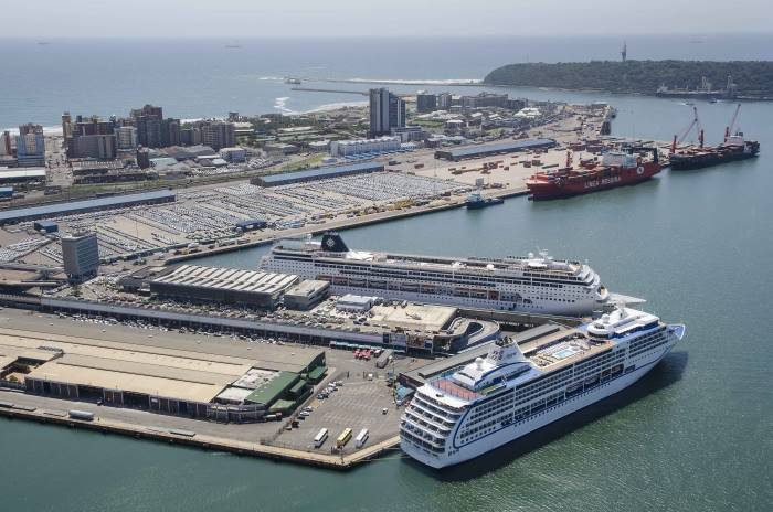Durban port cruise and car terminals. Picture: Russel Cleaver