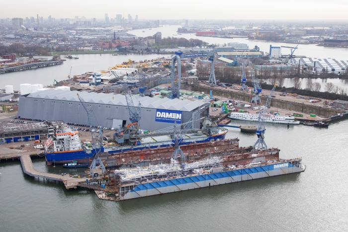 Damen Shipyards in Rotterdam, featured in Africa PORTS & SHIPS online