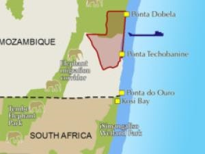 Location of proposed Techobanine deepwater port south of Maputo, featured in Africa PORTS & SHIPS maritime news online