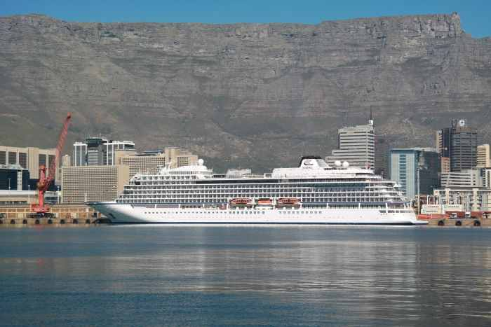 Viking Sun at the Cape Town Cruise Terminal, featured in Africa PORTS & SHIPS maritime news online