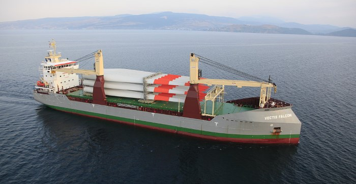 Vectis Falcon, another of the bulkers in the fleet of the Zeaborn Group, featured in Africa PORTS & SHIPS maritime news online