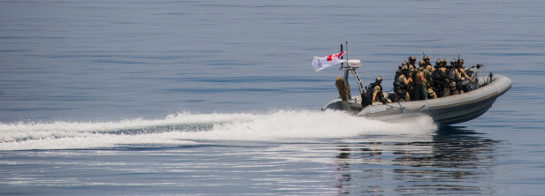 HMCS Regina's sea boat in action, featured in Africa PORTS & SHIPS maritime news online