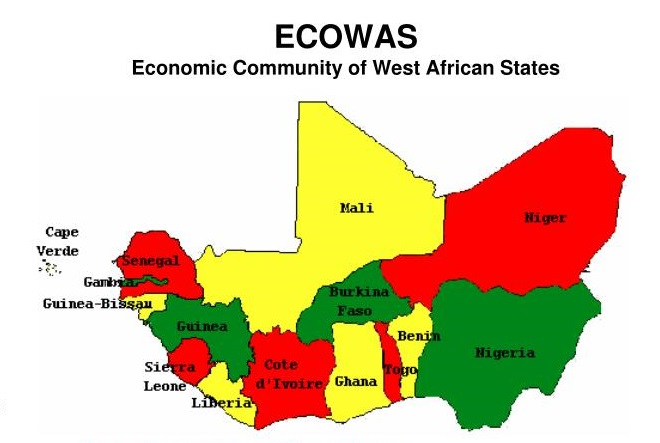 Member states of ECOWAS as featured in aarticle in Africa PORTS & SHIPS maritime news online