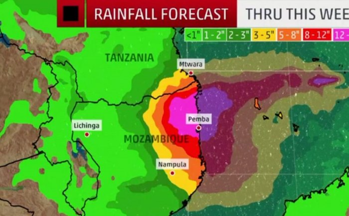 Cyclone Kenneth to come ashore as Red Alert is sounded in Mozambique, featured in Africa PORTS & SHIPS maritime news, image The Weather Channel