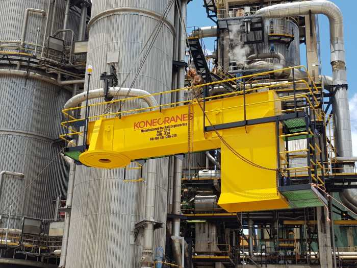 refurbishing a digester jib at Mindi in Richards Bay, undertaken by Konecranes and featured in Africa PORTS & SHIPS maritime news