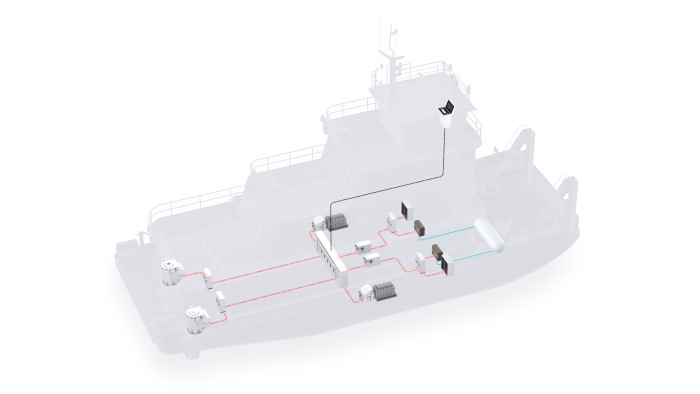 ABB's concept illustration of a push boat powered by fuel cell system. Image credit: ABB ©, featured in Africa PORTS & SHIPS maritime news online