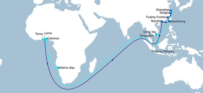 CMA CGM's new AFEX port rotation, reported in Africa PORTS & SHIPS maritime news online