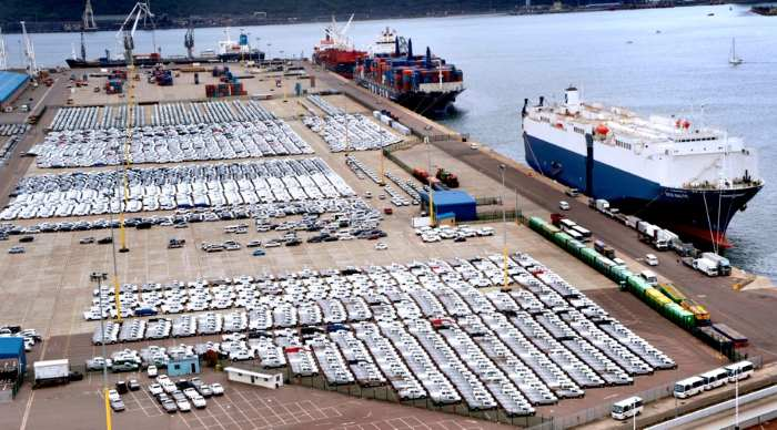 A section of the Durban Car Terminal, featured in Africa PORTS & SHIPS maritime news online