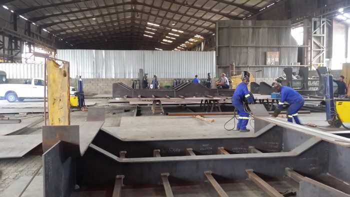 The rehabilitation of the Prince Edward Graving Dock's inner caisson includes major structural design improvements on re-built decks and compartments, which are being built in a controlled environment in an off-site engineering workshop, featured in Africa PORTS & SHIPS maritime news online