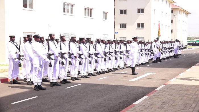 Ghanaian Naval ratings as featured in Africa PORTS & SHIPS maritime news online