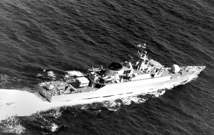 Iranian Navy frigate SABALAN, in former days ITS Rostam DE73. Picture: Wikipedia, fatured in Africa PORTS & SHIPS maritime news online