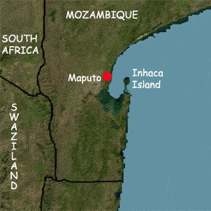 Map of Inhaca Island location, featuring in Africa PORTS & SHIPS maritime news online
