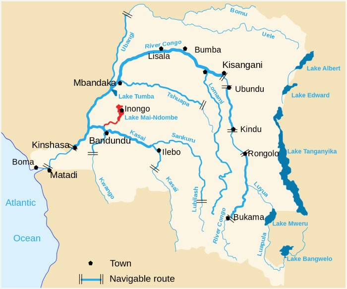 Lake Mai-Ndombe in western DRC, featured in Africa PORTS & SHIPS maritime news online