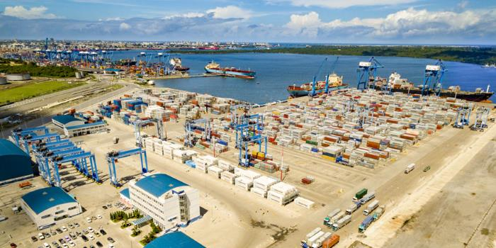 Mombasa's developing second container terminal, featured in report in Africa PORTS & SHIPS maritime news online