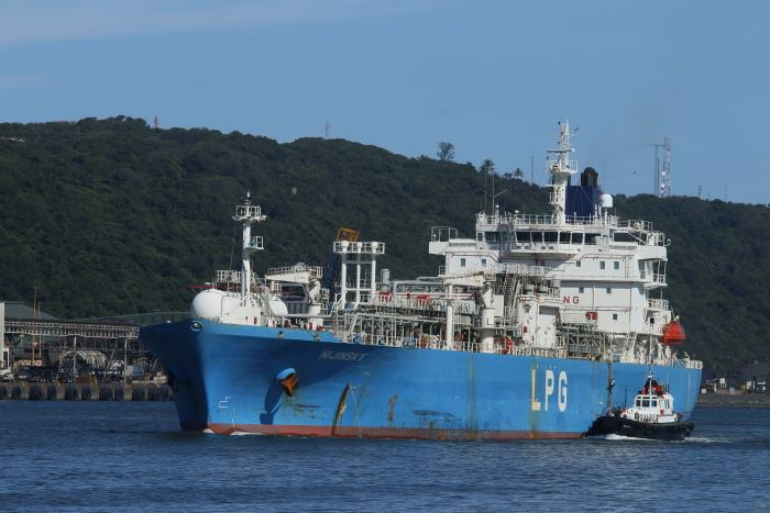 Nijinsky sailing from Durban, picture by Keith Betts, featured in Africa PORTS & SHIPS maritime news online