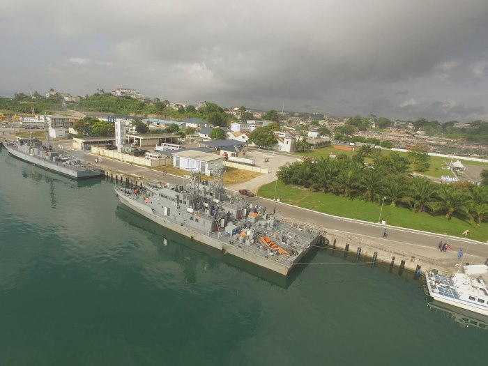 Sekondi Naval Base, Ghana, featured in Africa PORTS & SHIPS maritime news online