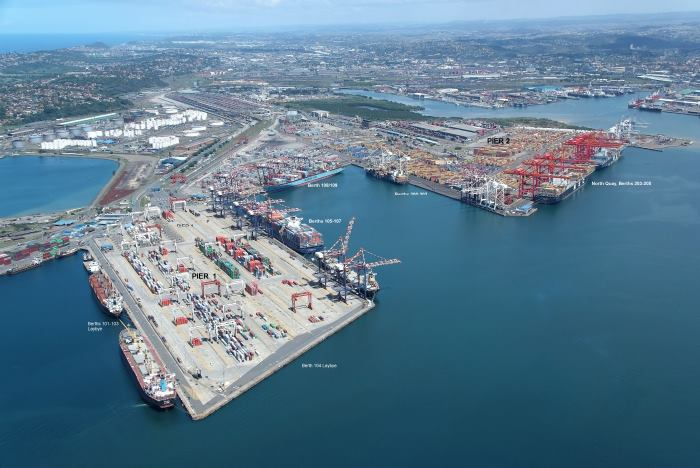 Durban container terminals, featured in Africa PORTS & SHIPS maritime news