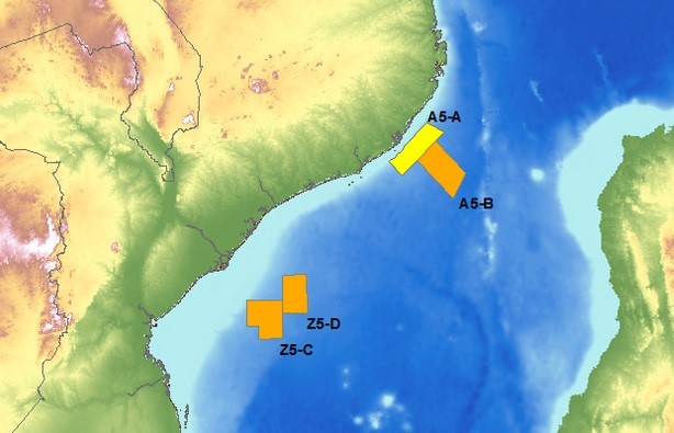 Eni exploration blocks off Mozambique, map courtesy: Eni, featured in Africa PORTS & SHIPS maritime news online