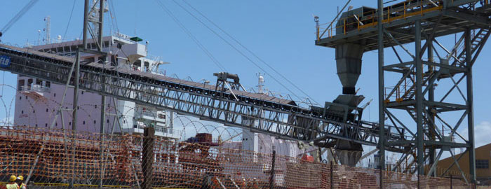 Beira's general cargo terminal scene, featured in Africa PORTS & SHIPS maritime news online