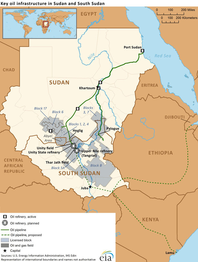 The oil fields of Sudan and South Sudan, where South Africa is now invoved, featured in Africa PORTS & SHIPS maritime news online