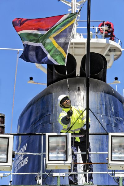 AMSOL vessel and SA flag, featured in Africa PORTS & SHIPS maritime news